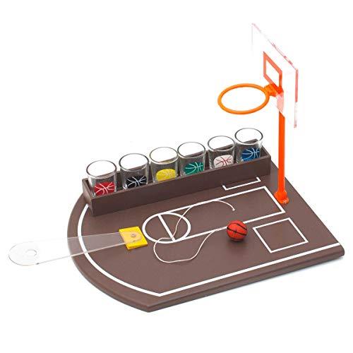GOODS+GADGETS Juego de fiesta de baloncesto con 6 vasos de chupito