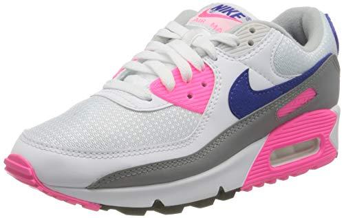 Nike Air MAX 3, Zapatillas Deportivas Mujer, White Vast Grey Concord Pink Blast, 37.5 EU