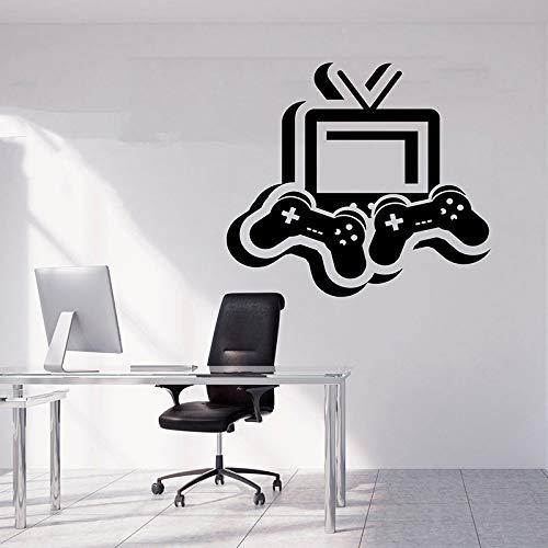 Playstation Vinyl sticker spel jongen kamerdecoratie spel speler geschenk afneembare videospel muursticker spel sticker spel speler sticker 64 x 57 cm