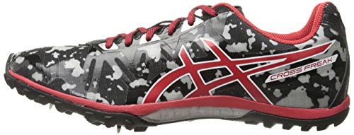 ASICS - Chaussures Cross Freak 2 pour Homme, 45 EU, Black/Fiery Red/Grey