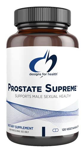 Designs for Health Saw Palmetto Prostate Supplement for Men - Prostate Supreme with Saw Palmetto, DIM, Vitamins, Nettle, Zinc + Chrysin - Non-GMO, Soy Free (120 Capsules)