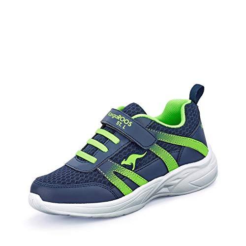 KangaROOS Inko EV Unisex-Erwachsene Sneaker, Blau (Dark Navy/Lime 4054), 39 EU