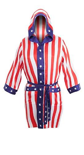 ROCKY Balboa Apollo Movie Boxing American Flag robe [Apparel] (disfraz)