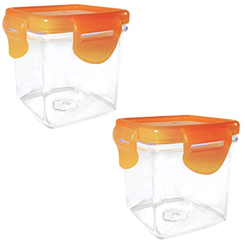 Pack of 2 – Perfection Portion Container Replacement for Nutrichopper with Airtight Locking Lid, Dishwasher Safe, Food Grade Transparent Acrylic As Seen On TV.