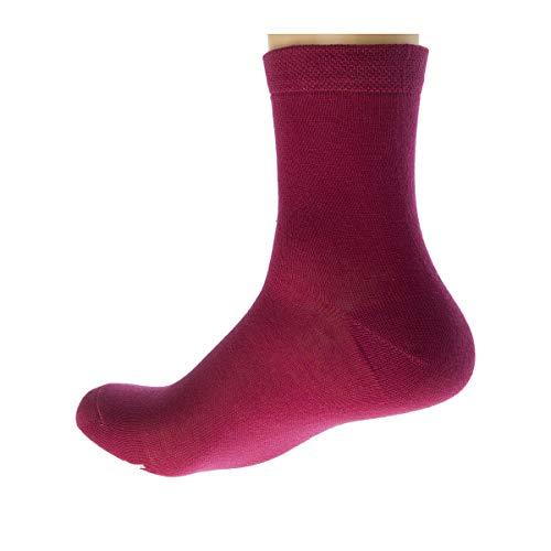 Kindy Socken, einfarbig, 3 Paar Gr. 37-41, Rosa/Grau.