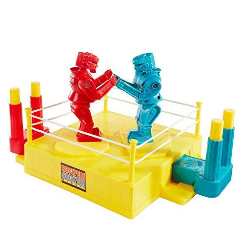 Mattel Games - CCX97 Rock'Em Sock'Em Robots, Boxkampf geeignet für 2 Spieler, Actionspiel für schlagkräftigen Spielspaß, Spiel ab 6 Jahren
