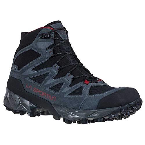 LA SPORTIVA Saber GTX, Zapatillas de montaña Hombre, Carbon/Chili, 46 EU