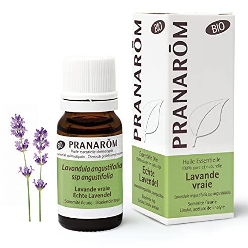 Pranarôm Huile Essentielle de Lavande Vraie Bio Lavandula angustifolia Sommité Fleurie 10 ml