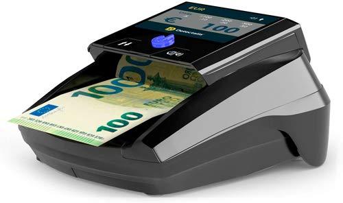 Verificatore di banconote false Detectalia D7, cavo per aggiornamento e batteria ricaricabile