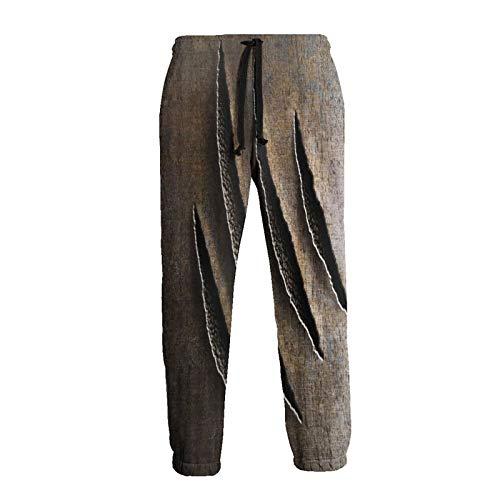 Wild Claws Damage on Rusty Iron Beast Jogger 3D Druck Jogging Sweatpants Damen Herren Hip Hop Sporthose Sportswear Gr. 31-35, weiß