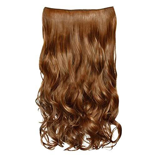 Herewegoo Lange Krullend Haarstukje Pruik Synthetische Vezel Klauw op Clip in Hair Extensions Zwart Blond Bruin Rood