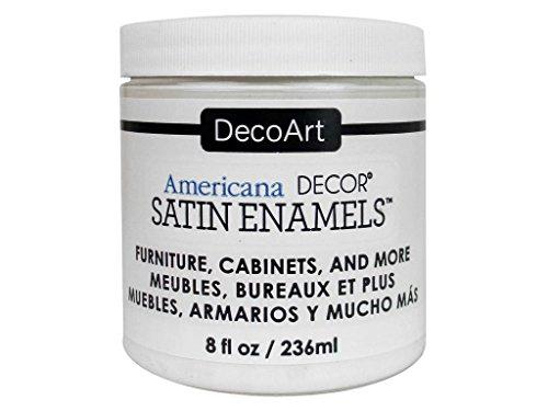 Deco Art decadsa-36.3Decor Satinado Esmalte warmwht Americana Decor Satinado Esmalte 8oz warmwht