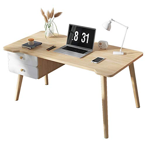 Lzet Mesa auxiliar portátil con altura para ordenador portátil, mesita de noche, mesa de sofá, color blanco