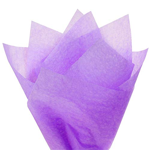 PMLAND Premium Quality Gift Wrapping Paper - Lavender Purple - 15 Inches X 20 Inches 100 Sheets