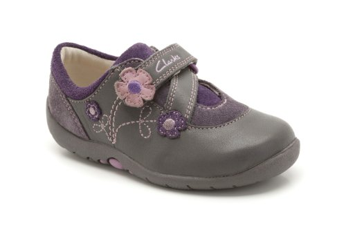 Clarks Girl's Black Leather First Walking Shoes - 3.5 Kids UK/India (19...