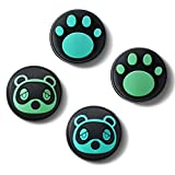 Cool Raccoon & Cat Paw Thumb Grip Caps, Daugee Joystick Analog Cap for Nintendo Switch & Lite, Soft Silicone Button Cover for Joy-Con Controller