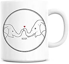 Elephant coffee mug, Cute anniversary gift, Elephant love mug, Custom anniversary mug, Mom mug, Mom birthday gift for her, Mug for boyfriend