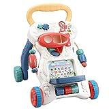WBLin Andador de bebé Juguetes multifuccional Carrito de niño Sentado-a-pie ABS Andador Musical con Tornillo Ajustable para niño Aprendizaje Temprano
