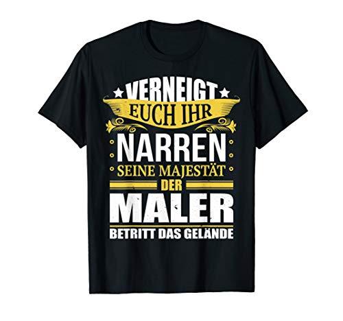 Herren Maler Shirt Geschenk Malermeister und Geselle Fun Tshirt