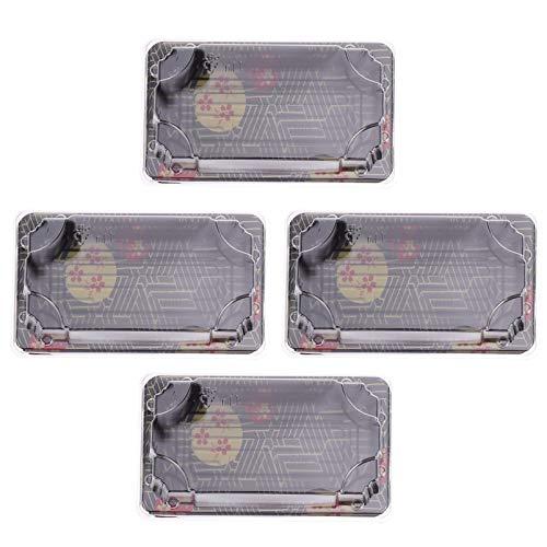 HEMOTON 50 Stück Sushi-Box Einweg Japanische Sushi-Tragebehälter mit Deckel Dessert Snack Herausnehmen Lebensmittelbox zum Mitnehmen Lebensmittelbehälter 14. 5X8. 5X4. 5Cm
