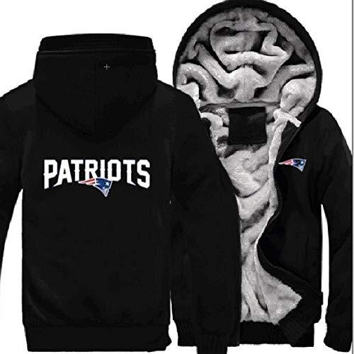 AEH Hoodie-Jacke Sweatshirt -New England Patriots Männer Hoody Zip Pullover Beiläufige Frühlings-Cardigan Stitching Hoodie-Jacke Radtrikot,D-L