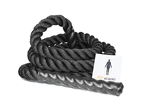 CROSSGUN | Comba Profesional Pesada para Entrenamiento de Fuerza Fitness | Cuerda Gruesa para Saltar | Battle Rope, Cuerda de Batalla | 2,9M- 25mm