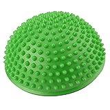 VGEBY1 Medias Bolas de Yoga, Bola de Ejercicio de Yoga Inflable de PVC Disco de Equilibrio de Yoga para Ejercicios de Gimnasio en casa(Verde)