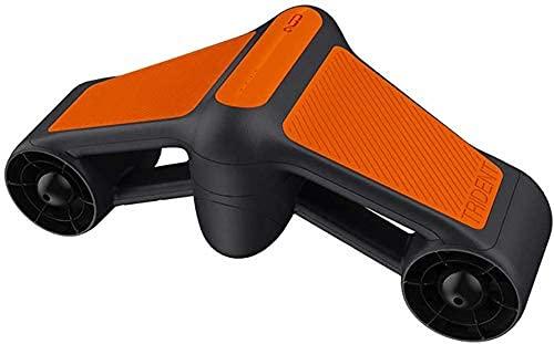 Sgxiyue Scooter Submarino, Refuerzo de natación con Soporte de cámara, Doble hélice con 2 velocidades compatibles con 50 Metros de Profundidad de Buceo Extremo para Deportes acuáticos, Naranja