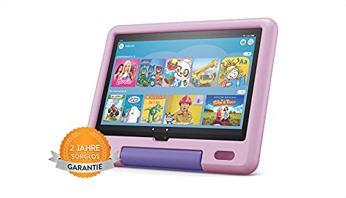 Das neue Fire HD 10 Kids-Tablet│ Ab dem Vorschulalter | 25,6 cm (10,1 Zoll) großes Full-HD-Bildschirm (1080p), 32 GB, kindgerechte Hülle in Lavendel