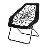 Zenithen Black Hexagon Bungee Chair for Dorm, Bed, Living Room, 32' (Pack of 1)