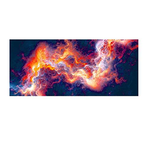 JLFDHR Imagen de Pared Abstracta de Nube de Llama roja Negra de Gran tamaño para Sala de Estar Lienzo artístico póster e impresión-70x140cmx1 sin Marco