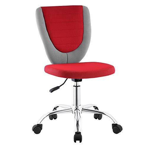CARO-Möbel Kinderdrehstuhl Future Schreibtischstuhl Drehstuhl in grau/rot, höhenverstellbar