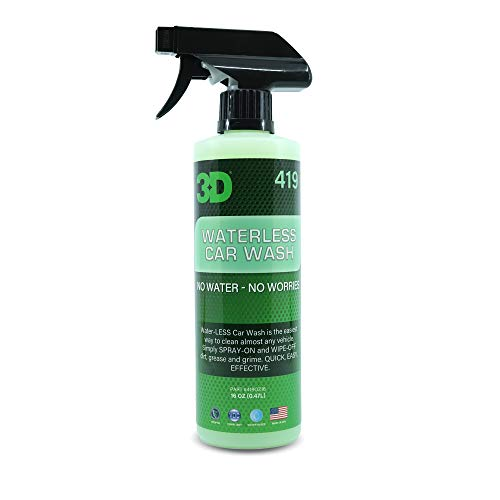 3D Waterless Car Wash - Bigodegradable Quick No Soap or Water Needed Easy Spray on Express Wash & Clean 16oz.