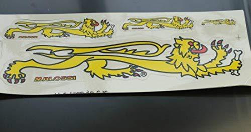 Stickers MALOSSI leeuw 4-delig Maat: L 220mm, B 80mm 1 stuk