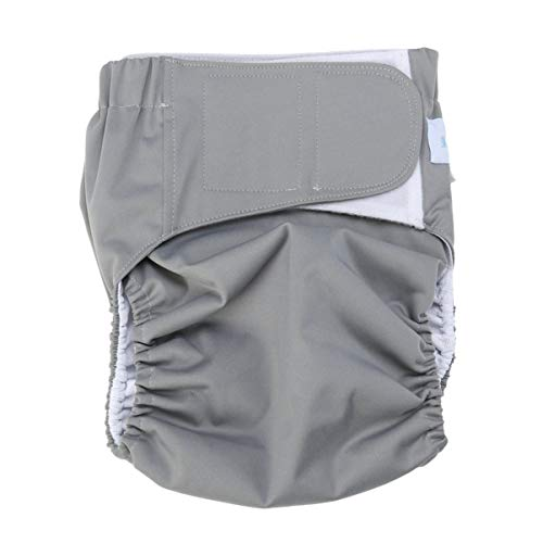 Milisten Adult Cloth Diaper Washable Elastic Adjustable Reusable Adult Nappy for Old Man Incontinence Teen Special Needs suits for waistline 35-47inch (Random Color)