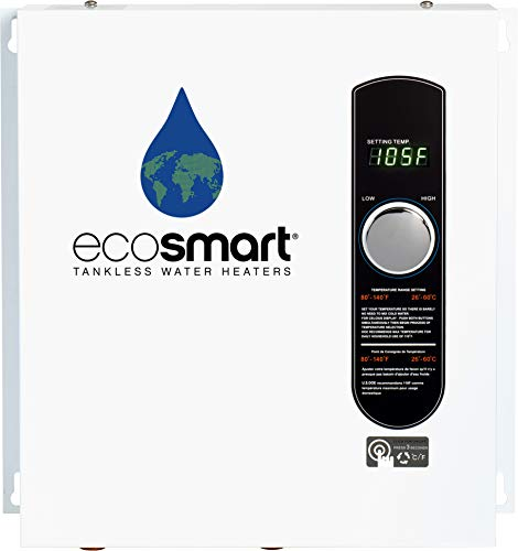 Ecosmart ECO 24 24 KW at 240-Volt Electric Tankless Water Heater with Patented Self Modulating...