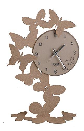 orologio da tavolo arti e mestieri ARTI E MESTIERI OROLOGIO DA TAVOLO BUTTERFLY FARFALLE BEIGE