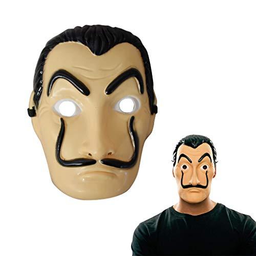 Amycute Máscara de Salvador Dali Careta Cosplay Disfraz Máscara de Fiesta de Halloween (Plástico)