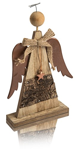 CHICCIE Figurine d'ange avec Ailes en métal et étoile – Décoration de Noël