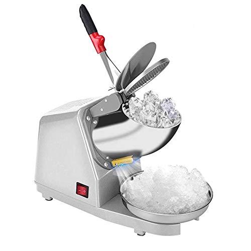 YFGQBCP 380W de Acero Inoxidable de Hielo Trituradora eléctrica de Afeitar 187lbs / HR encimera Snow Cone Maker for Helado, Bebidas frías, Fruta de Postre y cóctel