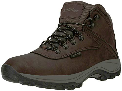Kitleler Men's Hiking Waterproof Boots Lightweight Outdoor Backpacking Boots(New8808-4Brown-40)