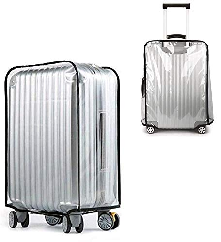 MHAEACU 28Inch Luggage Cover Clear Transparent PVC Suitcase Cover Protectors for Suitcase Rainproof Travel Trolley Case Protective Cover for Business Trip Travel School Daily Using