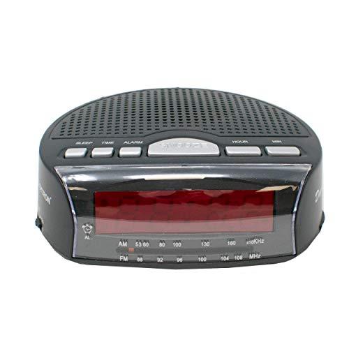 AM / FM Radio de Cama Alarma Despertador / Alimentado por La Red con Batería de Reserva / iCHOOSE