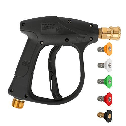 Distributeur de Savon Lance en Mousse pour Pistolet à Mousse Réglable, CestMall Pistolet de nettoyeur haute pression, poignée de pistolet de nettoyeur haute pression 4350 PSI avec buse de laveuse