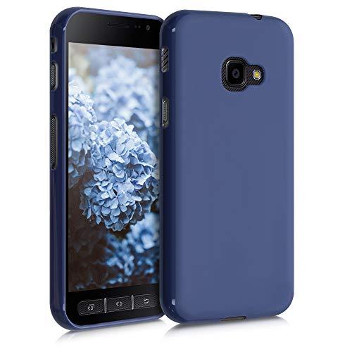 kwmobile Funda Compatible con Samsung Galaxy Xcover 4 / 4S - Carcasa de TPU Silicona - Protector Trasero en Azul turquí