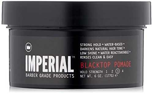 Imperial Barber Products Black Top Pomade Strong Hold Waterbase Wax 6 oz 177 G by Imperial Barber Products