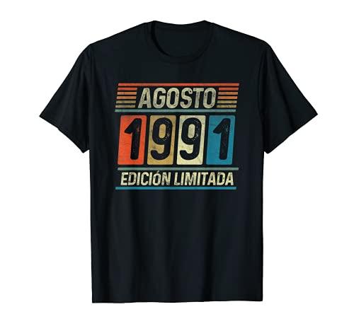 Agosto 1991 Vintage - 30 años Regalo Cumpleaños Hombre Camiseta