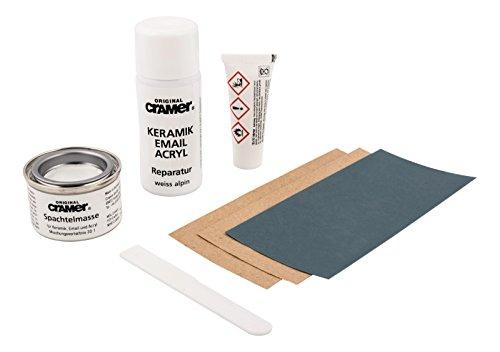 Cramer 83961 7 Reparatur-Set für Keramik, Email und Acryl, weiß