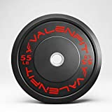 Weight Plates Olympic 2 Inch Weight Plate with Steel Insert Rubber Fully Covered | Free Weight Plates Set for Strength Training, Squat, Bench, Deadlifting(55lb Single)