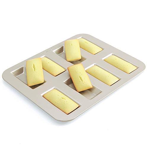 CHEFMADE フィナンシェ(Financier)・ケーキ型 8ヶ取 粘りにくいケーキ型